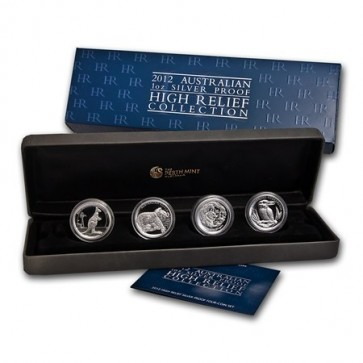 Silver Australian High Relief Proof Four-Coin Collection 2012