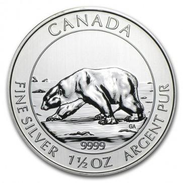 1.5 oz Silver Polar Bear Coin 2013