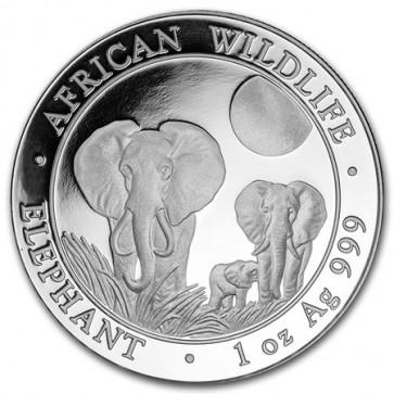1 oz Silver Somalian Elephant Coin 2014