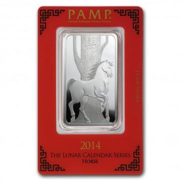 1 oz Silver PAMP Suisse Horse Bar
