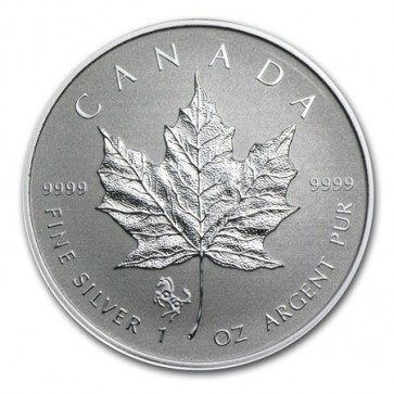1 oz Silver Canadian Maple Leaf Horse Privy Coin 2014
