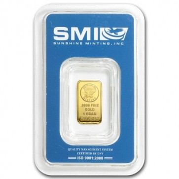 1 gram Gold Sunshine Mint Bar
