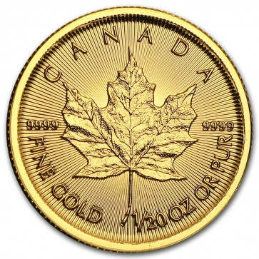 1/20 oz Gold Canadian Maple Leaf Coin