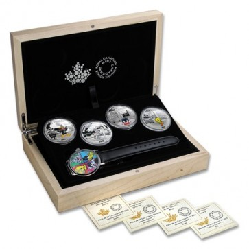 1 oz Silver Looney Tunes 4 Coin Set 2015