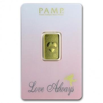 5 gram Gold PAMP Love Always Bar