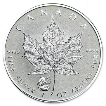 1 oz Silver Canadian Maple Leaf Panda Privy Coin 2016
