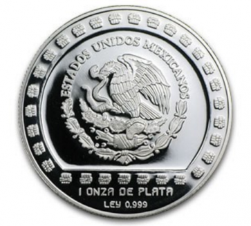 1 oz Silver Mexico Huehueteltl Proof Coin 1993