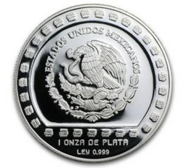 1 oz Silver Mexico Huehueteltl Proof Coin 1993