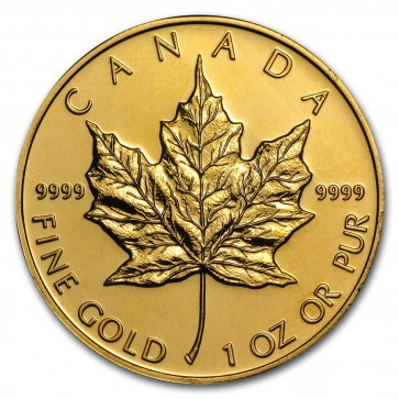 1 oz Gold Canadian Maple Leaf Coin Pre-year