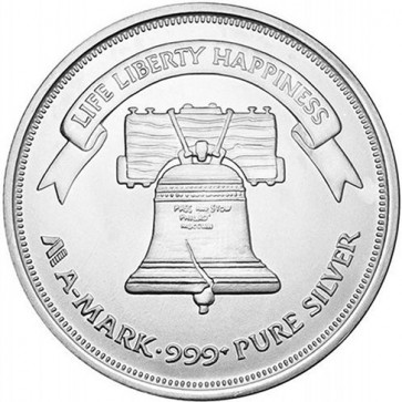 1 oz Silver Liberty Bell Round
