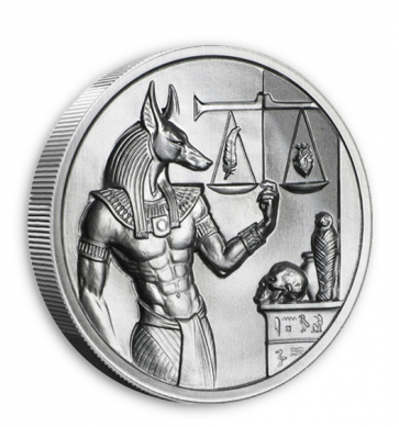 2 oz Silver Anubis Ultra High Relief Round