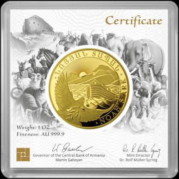 1 oz Gold Noah's Ark Coin 2021