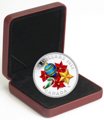 1 oz Silver RCM  Venetian Glass Candy Cane Coin 2013