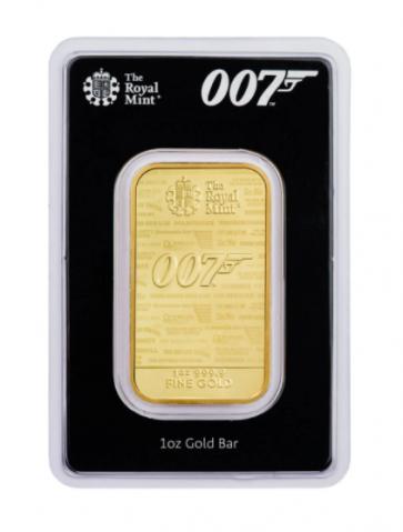 1 oz Gold Royal Mint James Bond 007 Bars