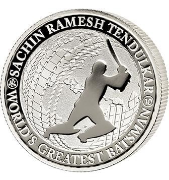 1/2 oz Silver Sachin Tendulkar World's Greatest Batsman