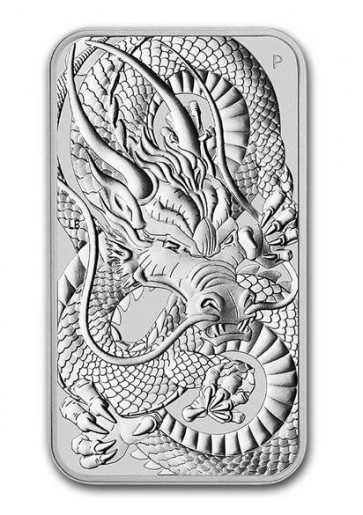1 oz Silver Perth Mint Dragon Rectangular Coin 2021