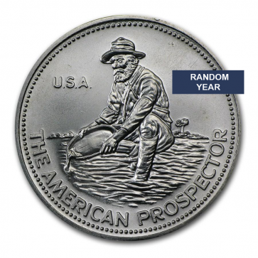 1 oz Silver Engelhard Prospector Round