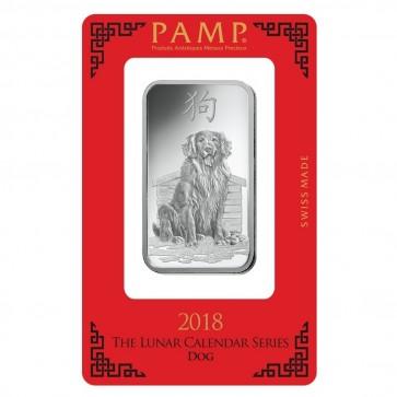 1 oz Silver PAMP Suisse Dog Bar