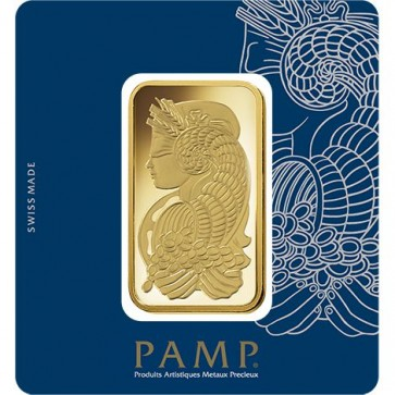 100 gram Gold PAMP Suisse Fortuna Veriscan Bar