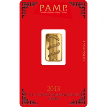 5 gram Gold PAMP Suisse Snake Bar