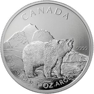 1 oz Silver Wildlife Series Grizzly Bear Coin 2011