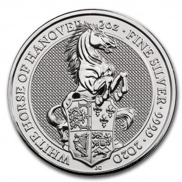 2 oz Silver Queen's Beasts - White Horse of Hanover Coin 2020