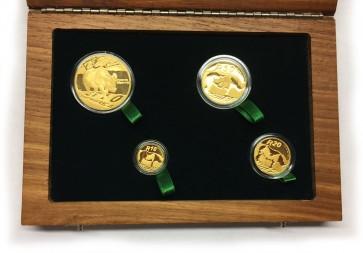Gold Natura Series - Black Rhino Coin 4 Coin Set 2010