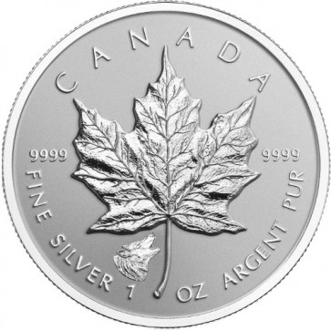 1 oz Silver Canadian Maple Leaf Wolf Privy Coin 2016