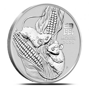 1 oz Silver Perth Mint Lunar Mouse (Series III) Coin 2020