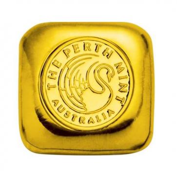 1 oz Gold Perth Mint Cast Bar