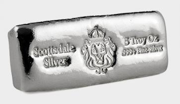 5 oz Silver Scottsdale Cast Bar