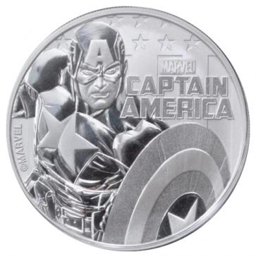 1 oz Silver Marvel Series Captain America Coin 2019