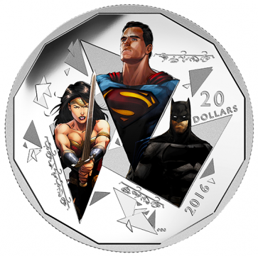 1 oz Silver Batman v Superman: The TrinityTM Coin 2016