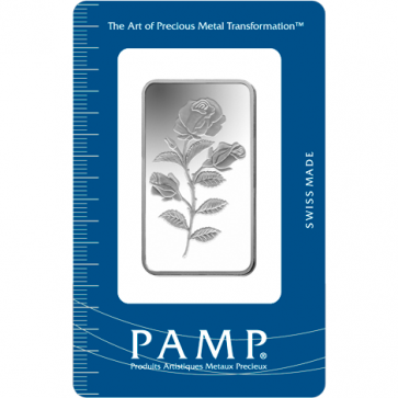 1 oz Silver PAMP Suisse Rosa Bar