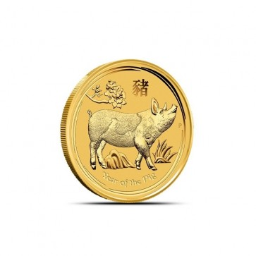 1/10 oz Gold Perth Mint Year of the Pig Coin 2019
