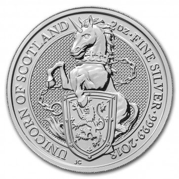2 oz Silver Queen's Beast - The Unicorn Coin 2018