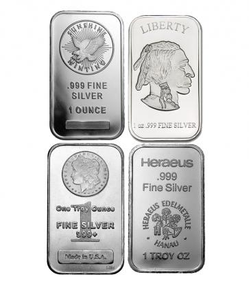 1 oz Various Silver Bars