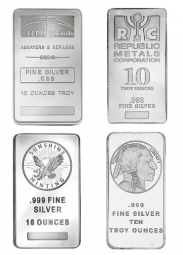 10 oz Various Silver Bars