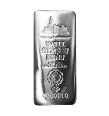 1 Kilo Silver Wall Street Mint Bar