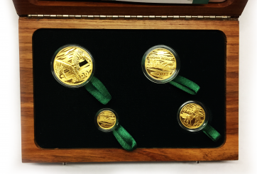 Gold Natura Series - Zebra 4 Coin Set 2013