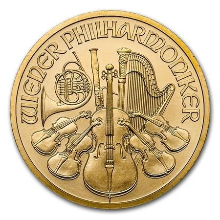 1 2 Oz Gold Austrian Philharmonic Coin 2018