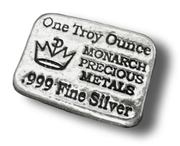 1 Oz Silver Monarch Precious Metals Bar