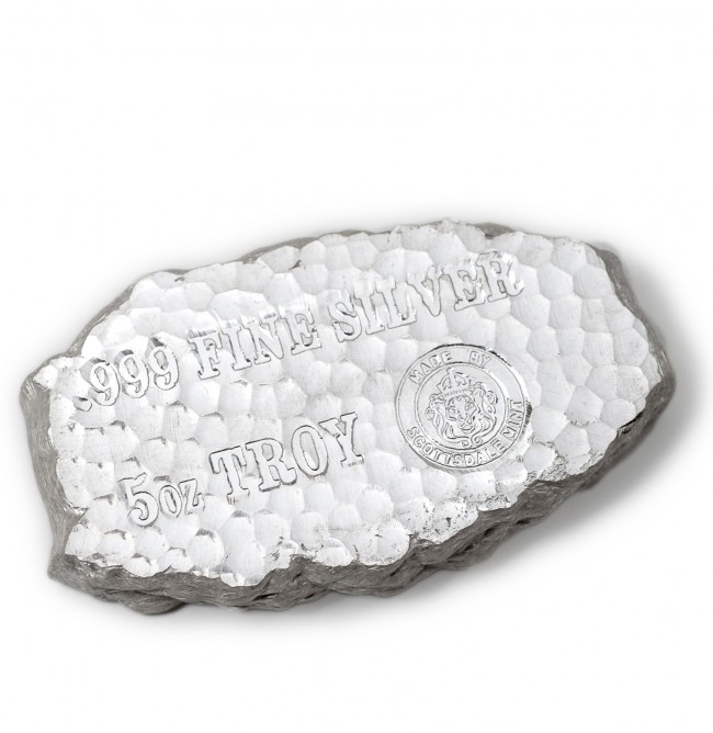 5 Oz Silver Scottsdale Tombstone Nugget Bar