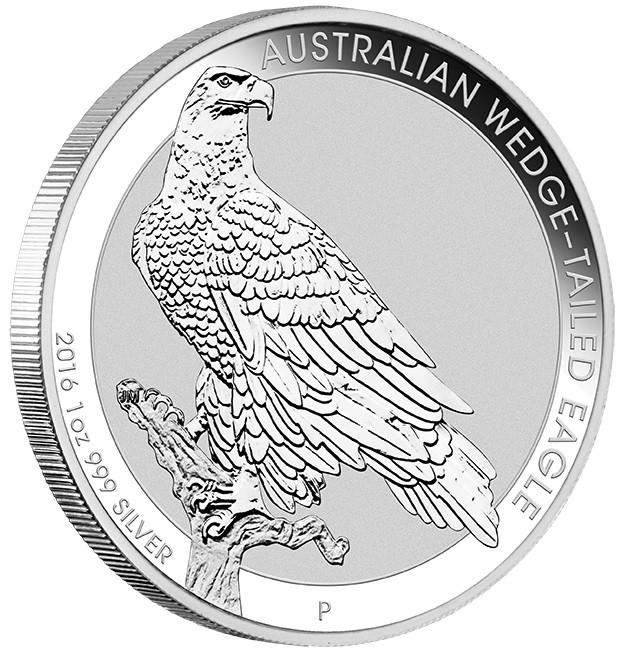 2016 Australian $1 Wedge Tailed Eagle 1oz .999 Silver Bullion Coin From Roll