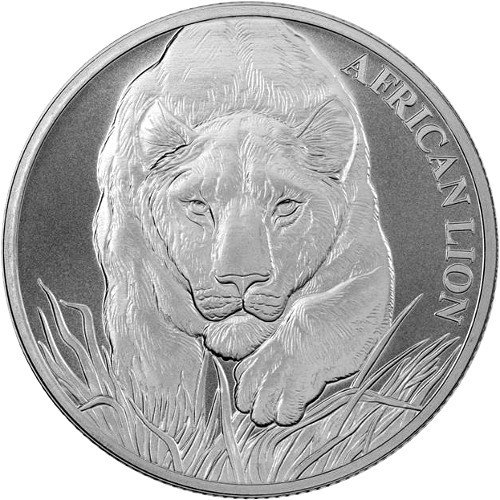 1 Oz Silver Republic Of Chad Lion Coin 2017