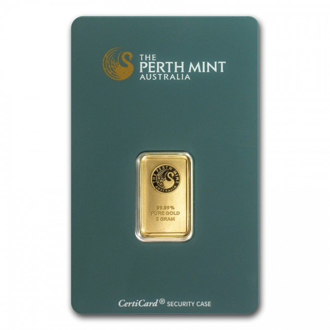 5 Gram Gold Perth Mint Bar The Bullion People