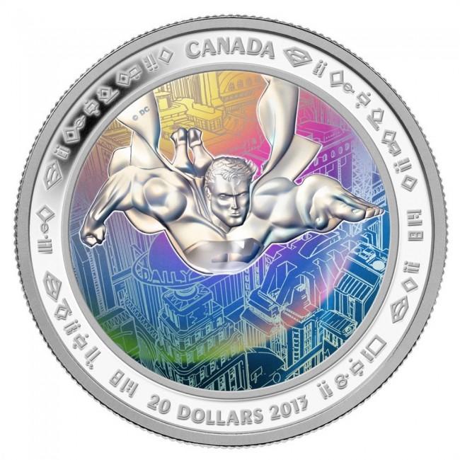 1 Oz Silver 75th Anniversary Of Superman Metropolis 20