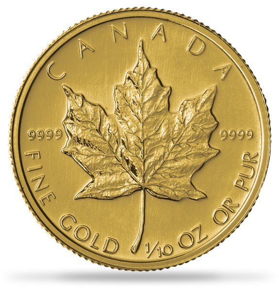 1 10 Oz Gold Canadian Maple Leaf Coin Pre Year