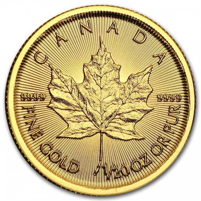 1 20 Oz Gold Canadian Maple Leaf Coin