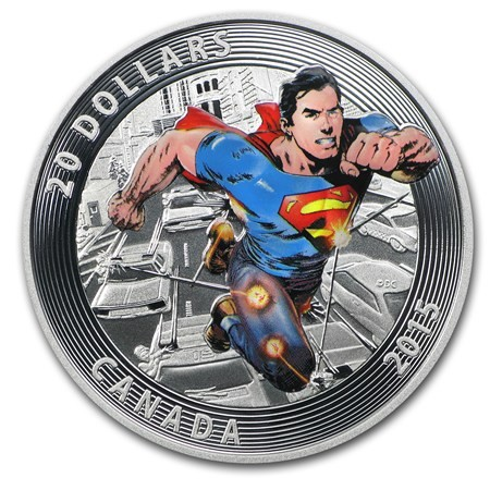 1 Oz Silver Iconic Superman Comic Book Covers Action